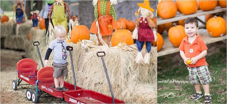 Child at pumpkin patch