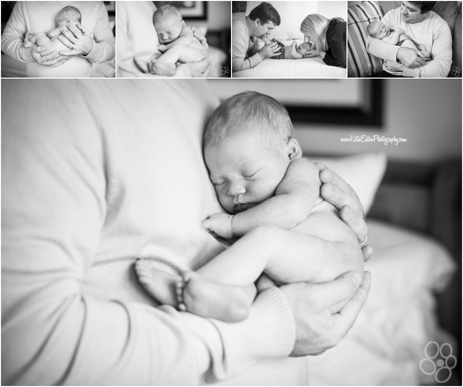 Lovely image of a lifestyle newborn session in austin texas