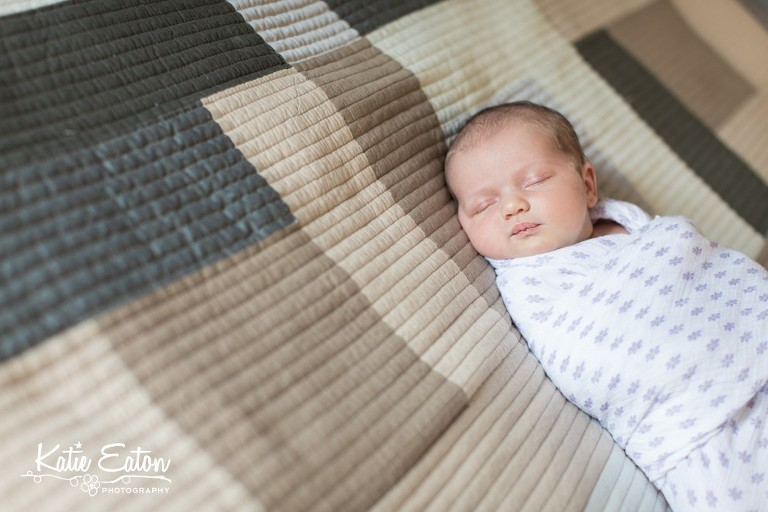 Beautiful images from a lifestyle newborn session in Austin, Texas by Katie Eaton Photography-1