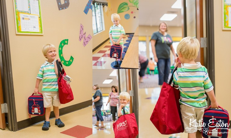 Fun images of a child on the first day of school by Katie Eaton-2