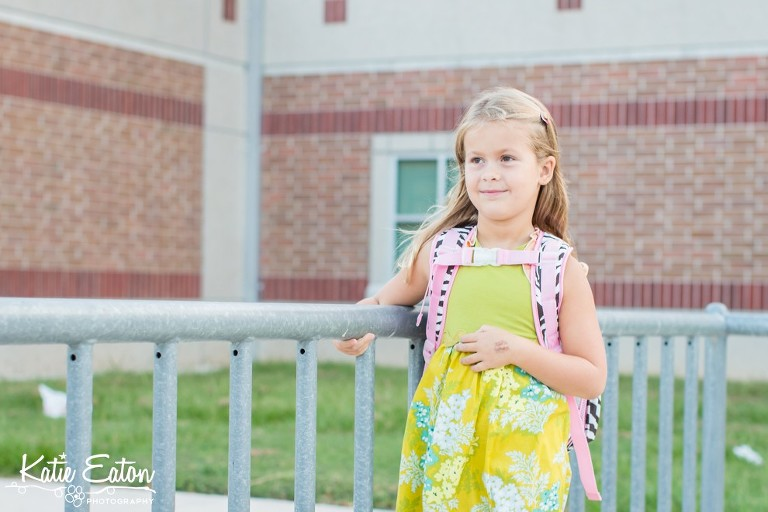 Fun images of a child on the first day of school by Katie Eaton-3