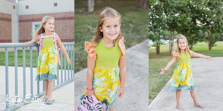 Fun images of a child on the first day of school by Katie Eaton-4