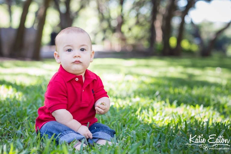 Fun images of a six month old taken at the arboretum by Katie Eaton Photography-3