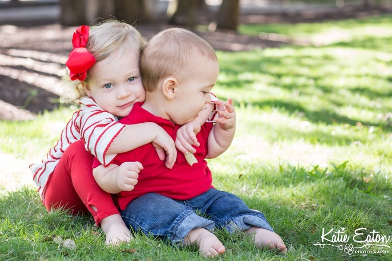 Fun images of a six month old taken at the arboretum by Katie Eaton Photography-7