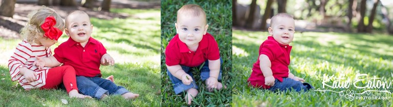 Fun images of a six month old taken at the arboretum by Katie Eaton Photography-8