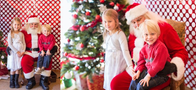 Beautiful image of children with santa claus at great hills country club by Katie Eaton Photography-4