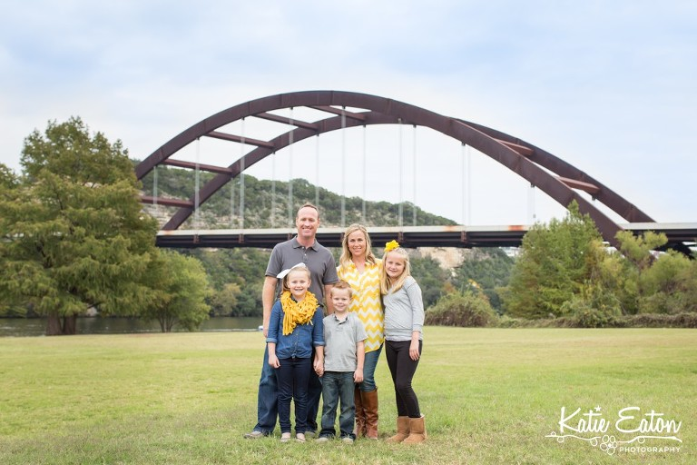 Beautiful images of a family by the Pennybacker Bridge by Katie Eaton Photography-1