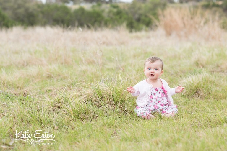 Fun images of a six month old at champions park | Austin Child Photographer | Katie Eaton Photography-1