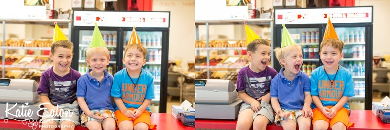 Fun images from a donut shop birthday party | Austin Child Photographer | Katie Eaton Photography-4