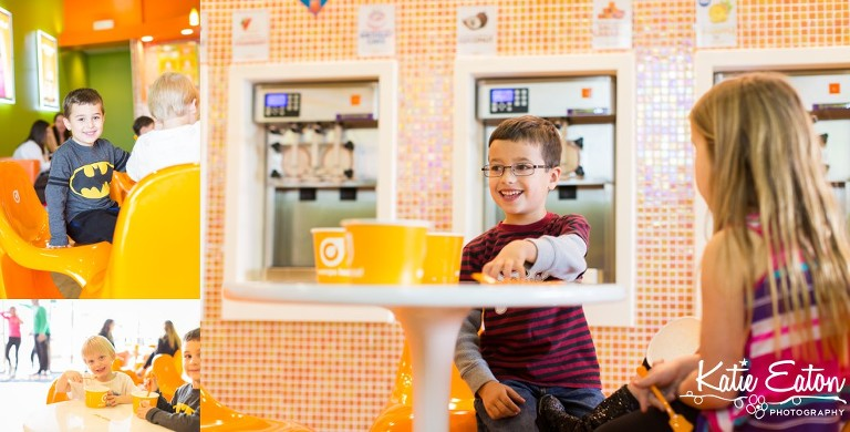 Fun images of children enjoying Orange Leaf | Austin Child Photographer | Katie Eaton Photography-1