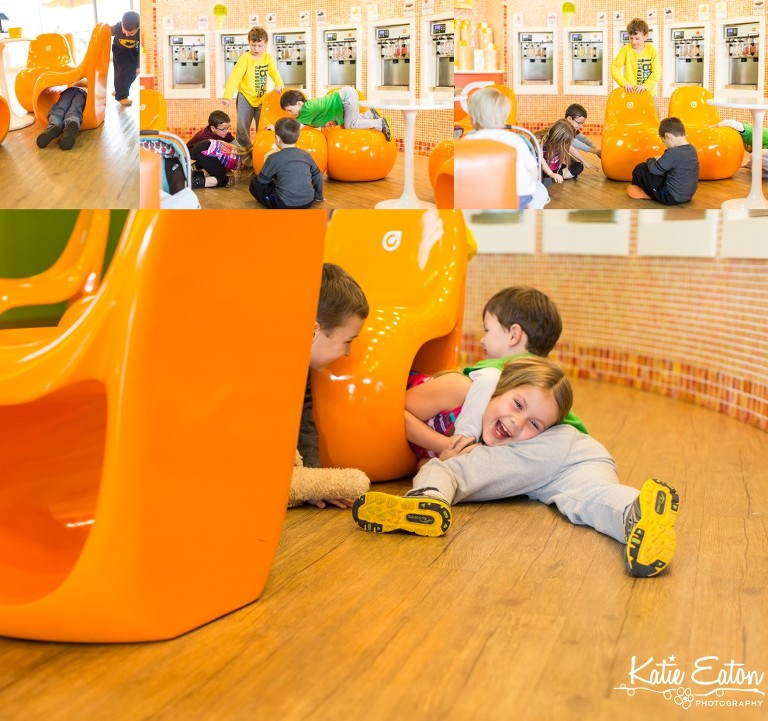 Fun images of children enjoying Orange Leaf | Austin Child Photographer | Katie Eaton Photography-6