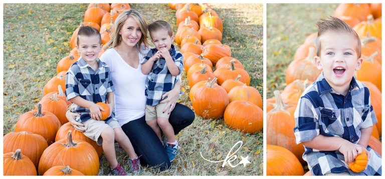 Fun images from a pimpkin patch mini session by Katie Starr Photography-7